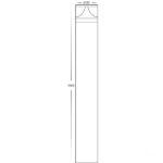 240v Divad 12w Tri-Colour LED Black Round Bollard Light – 1000mm