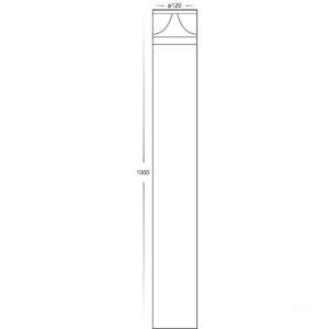 240v Divad 12w Tri-Colour LED Black Round Bollard Light - 1000mm