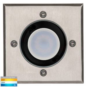 Metro In-ground Uplighter Square 120mm 316 Stainless Steel Face