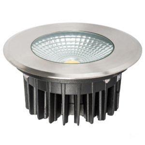 12v DC 10w LED Klip In-ground Uplighter Round, 160mm 316 Stainless Steel Face in 5500K