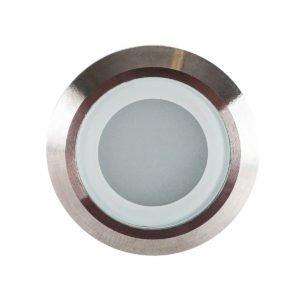 12v DC 0.5w LED Flame Single Mini Deck Light IP67 316 Stainless Steel in 5500K