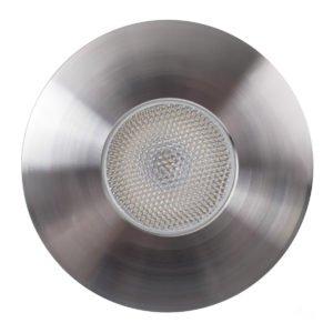 12v DC 3w LED Tekk Stainless Steel Mini Deck Light 316 Stainless Steel Face in 3000K