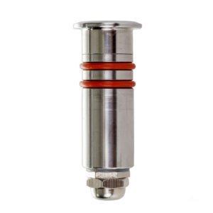 12v DC 0.5w LED Kett Single Mini Deck Light IP67 316 Stainless Steel in 3000K