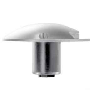 12v DC 3w LED Dome Silver Aluminium one way Deck light in 5500K