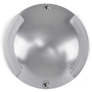 12v DC 2 x 3w LED Dome Silver Aluminium two way Deck light in 5500K