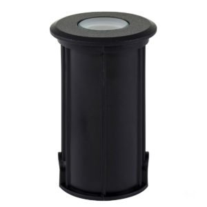 12v DC Elite 3w LED Mini Recessed Deck Light / In-ground Light Black in 5500K