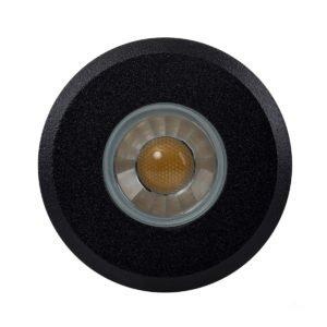 12v DC Elite 3w LED Mini Recessed Deck Light / In-ground Light Black in 4000K