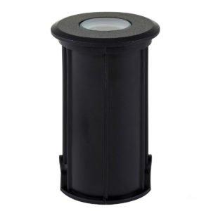 12v DC Elite 3w LED Mini Recessed Deck Light / In-ground Light Black in 3000K
