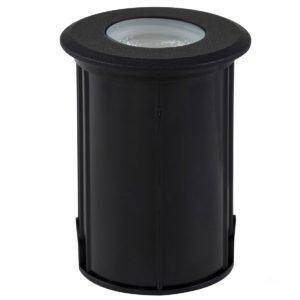 12v DC Elite 5w LED Mini Recessed Deck Light / In-ground Light Black in 5500K