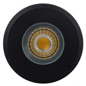 12v DC Elite 5w LED Mini Recessed Deck Light / In-ground Light Black in 3000K