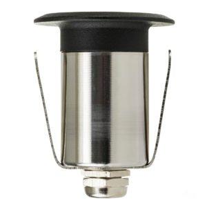 12v DC Mini Ollo 1w LED Mini Recessed Step or In-ground Light Black in 5500K