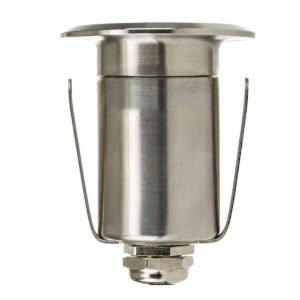 12v DC Mini Ollo 1w LED Mini Recessed Step or In-ground Light 316 Stainless Steel in 3000K