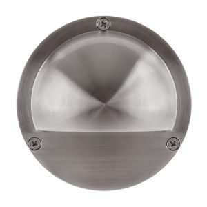 12v Pinta Surface Mounted 316 Stainless Steel Step Light with Eyelid -HV2902