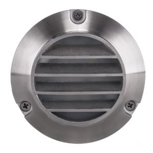 12v DC Pinta 2.3w Tri-Color LED Surface Mounted Step Light with Louvered Grill 316 Stainless Steel - HV2905T-12V