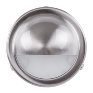 240v Pinta Surface Mounted Step Light with Large Eyelid 316 Stainless Steel - HV2906
