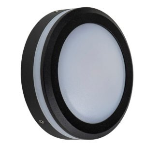 240v 5w LED Nava Surface Mounted Step Light Open Face Black in 5500K - HV2960C-BLK-240V