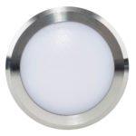 240v 5w LED Nava Surface Mounted Step Light Open Face Titanium Aluminium in 5500K - HV2960C-TTM-240V