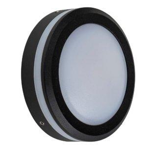 12v DC 5w LED Nava Surface Mounted Step Light Open Face Black in 3000K - HV2960W-BLK-12V