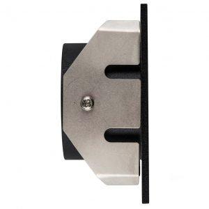 Reces 12V 3W LED IP67 Matt Black Recessed Square Step Light