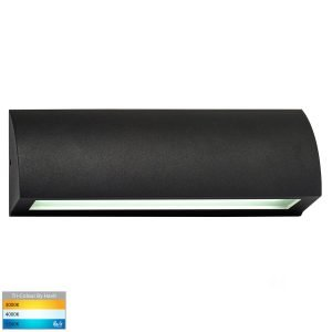 Taso 12V DC 10W LED Tri-Colour Rectangle Step Light in Matt Black