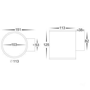 HV3628T-WHT Dimensions