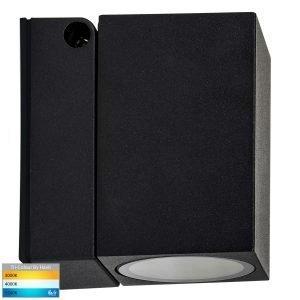 Accord GU10 Black Square Single Adjustable Wall Light