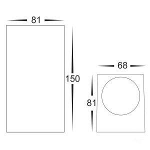 HV3632 WHT Dimensions
