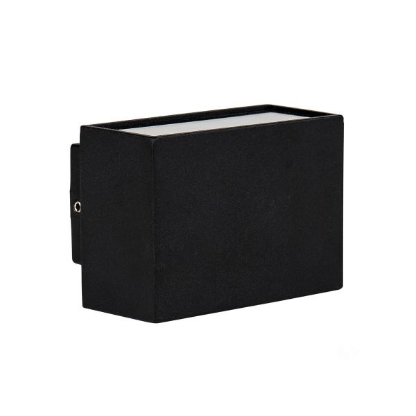 Mini Blokk 2 x 3W Warm White LED Up and Down Wall Light in Black