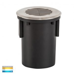 12v DC Viale MR16 Recessed with Grill Driveway Light in 316 Stainless Steel- HV19102T-SS316