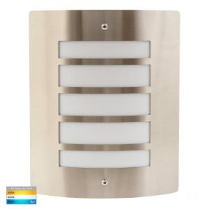 Mask 316 Stainless Steel 10w Tri-Colour LED Wall Light - HV36042T