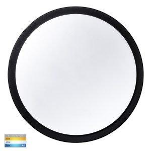 Liptor Black 30w Surface Mounted LED Oyster Light - HV36053T-BLK
