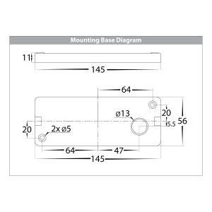 HV3644 Mounting Base