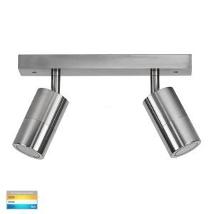 Tivah 10W 240v Tri-Colour LED Ceiling 2 Light Bar Light in Titanium