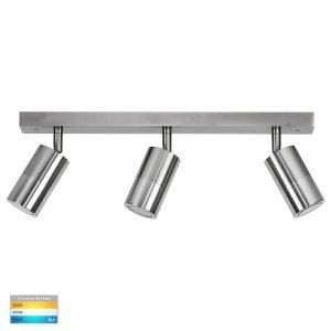 Tivah 15W 240v Tri-Colour LED Ceiling 3 Light Bar Light in Titanium