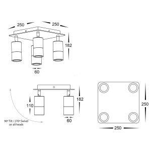 HV4001-4-SQ Dimensions