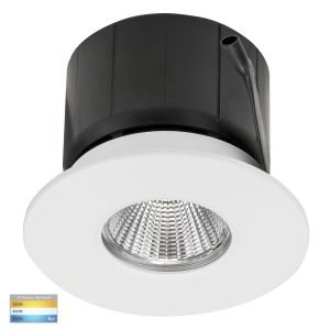 Prime 12W Dimmable CCT Matt White Recessed Fixed Downlight