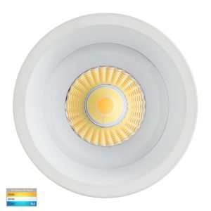 Prime 12W Dimmable CCT Matt White Recessed Fixed Deep Set 76mm Downlight