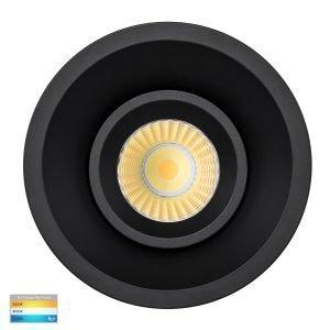 Prime 12W Dimmable CCT Matt Black Recessed Fixed Deep Set 90mm Downlight
