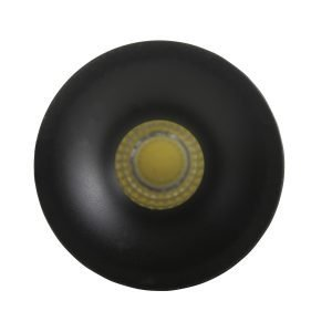Niche 3W Matt Black Round Mini Recessed Downlight in Warm White