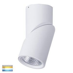 Nella 18W Dimmable CCT Matt White Surface Mount Rotatable Downlight