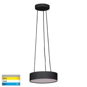 Nella 20W Dimmable LED Tri-Color Matt Black Pendant Light