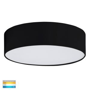 Nella 20W 240V LED Dimmable Tri-Color Surface Mounted Oyster Light in Matt Black