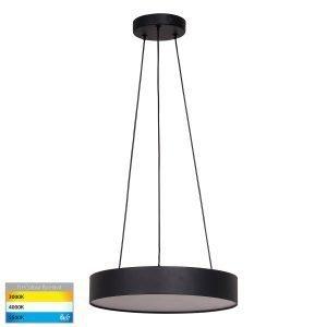 Nella 30W Dimmable LED Tri-Color Matt Black Pendant Light
