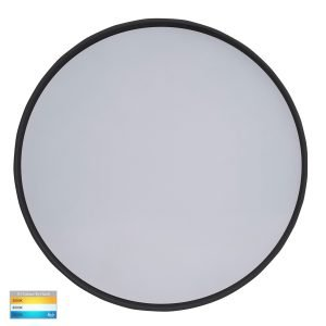 Nella 30W 240V LED Dimmable Tri-Color Surface Mounted Oyster Light in Matt Black