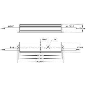 HV9653-24V Dimensions