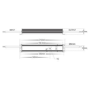 HV9658-30W Dimensions