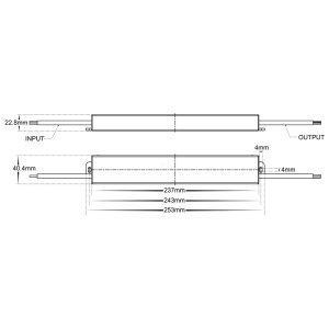 HV9658-12V60WS Dimensions