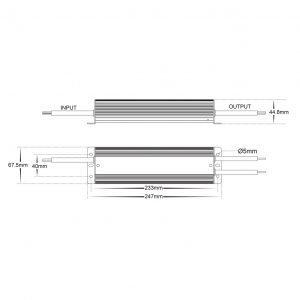 HV9658-24V150W Dimensions