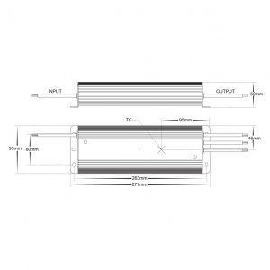 HV9658-275W300W Dimensions