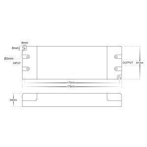 HV9660-24V60W Dimensions